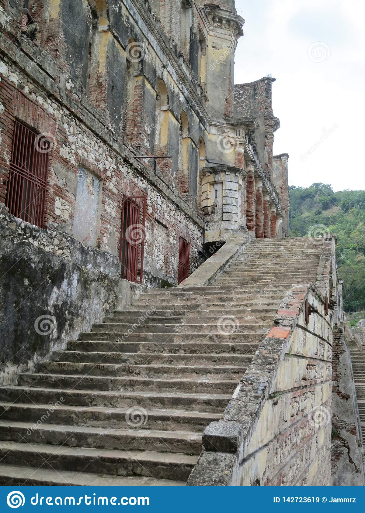 Palace ruins in Haiti stock image. Image of view ...