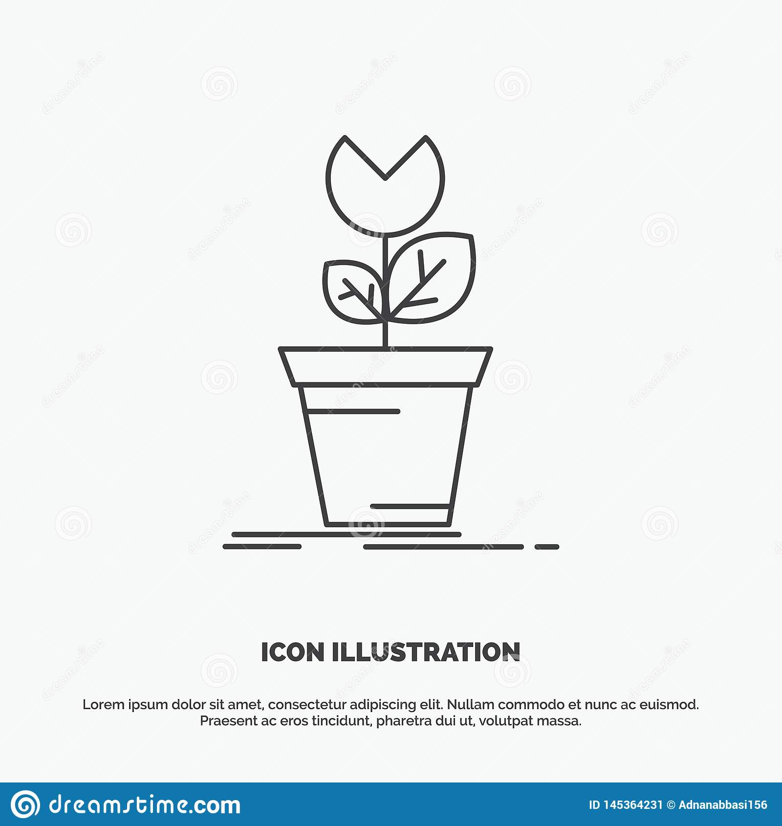 Adventure, Game, Mario, Obstacle, Plant Icon  Line Vector