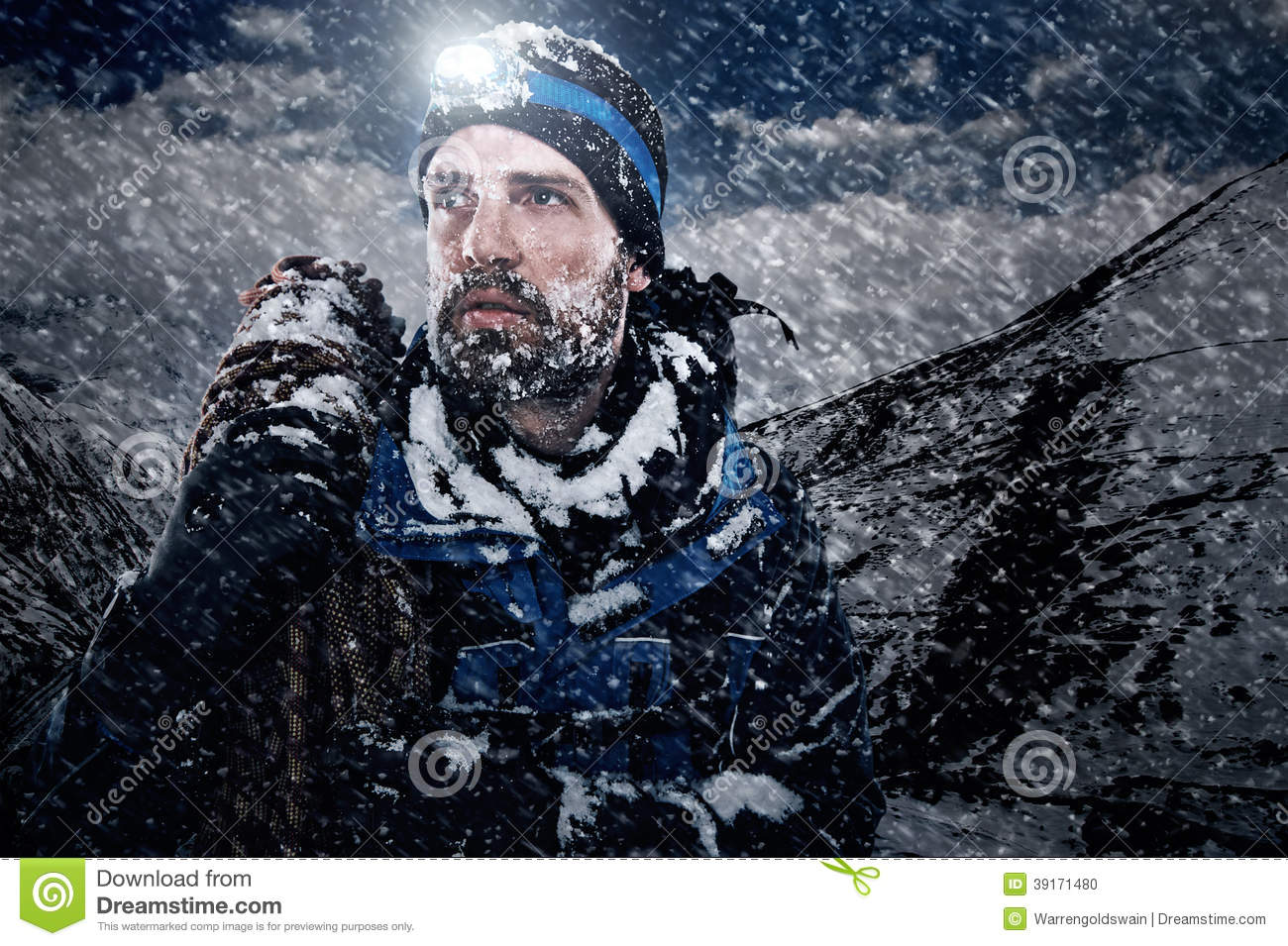 Adventure Mountain Man Stock Photo Image Of Alone