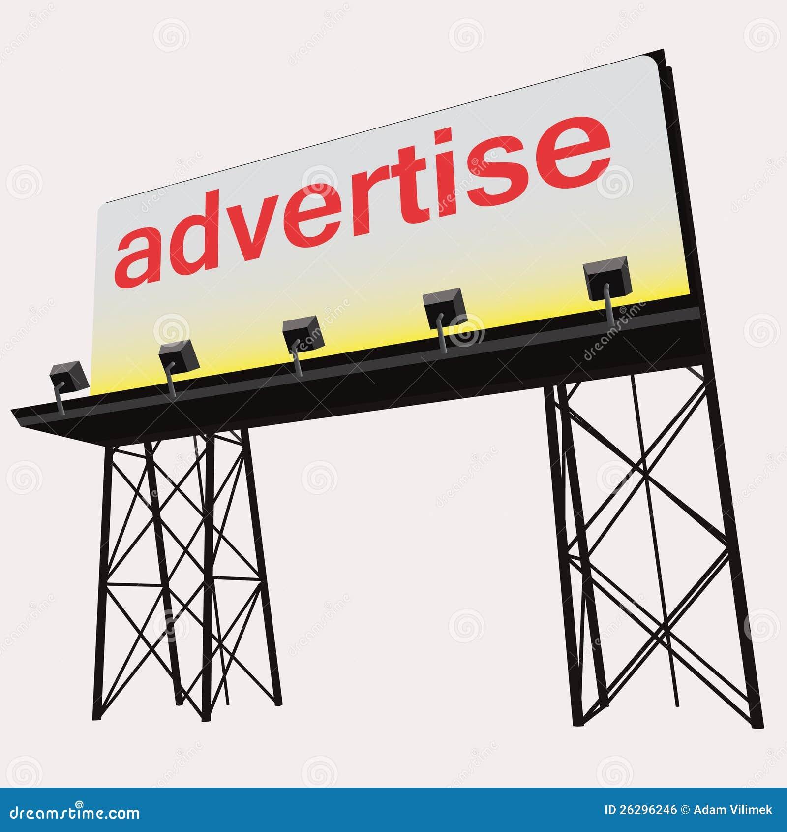 Adverteer bouw van het aanplakbord de duidelijke paneel