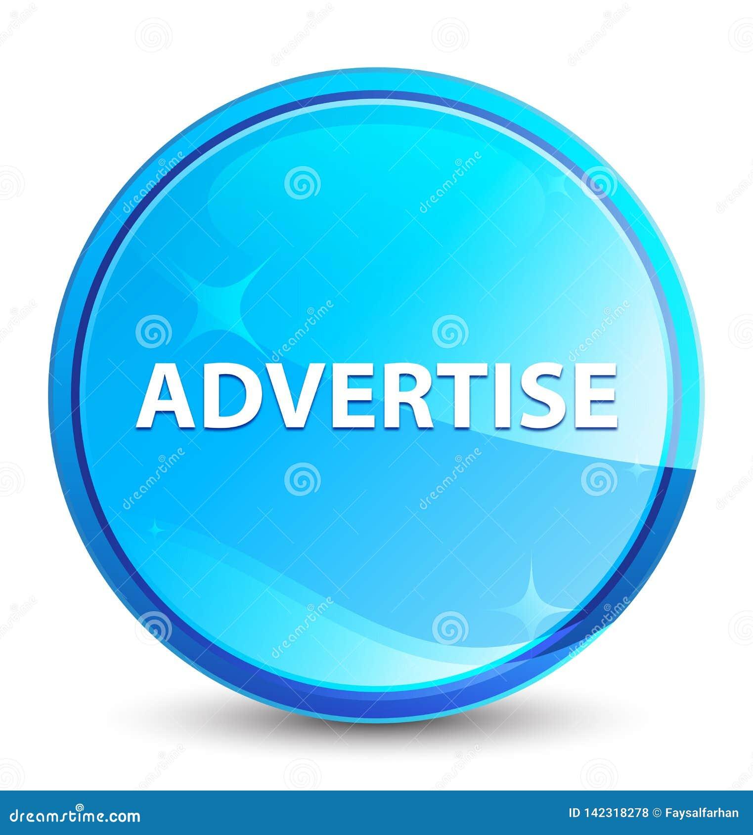 Adverteer plons natuurlijke blauwe ronde knoop