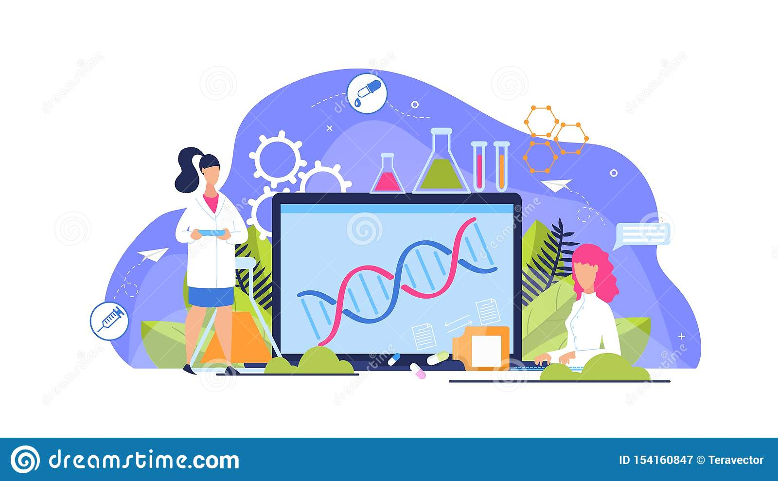 Adverterende het Beeldverhaalvlakte van de Vlieger Genetische Analyse