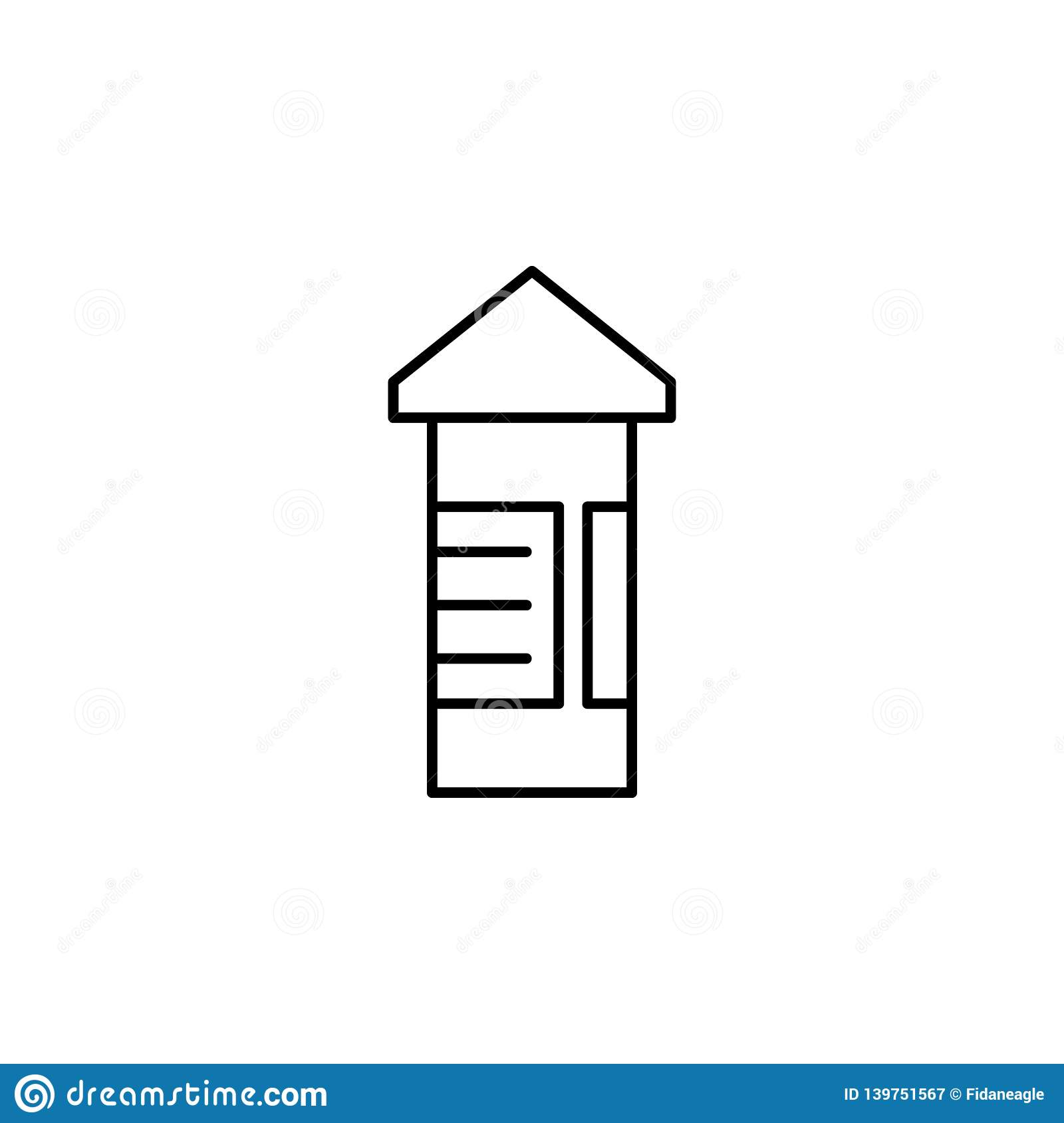 Advertise board road outline icon. Signs and symbols can be used for web, logo, mobile app, UI, UX