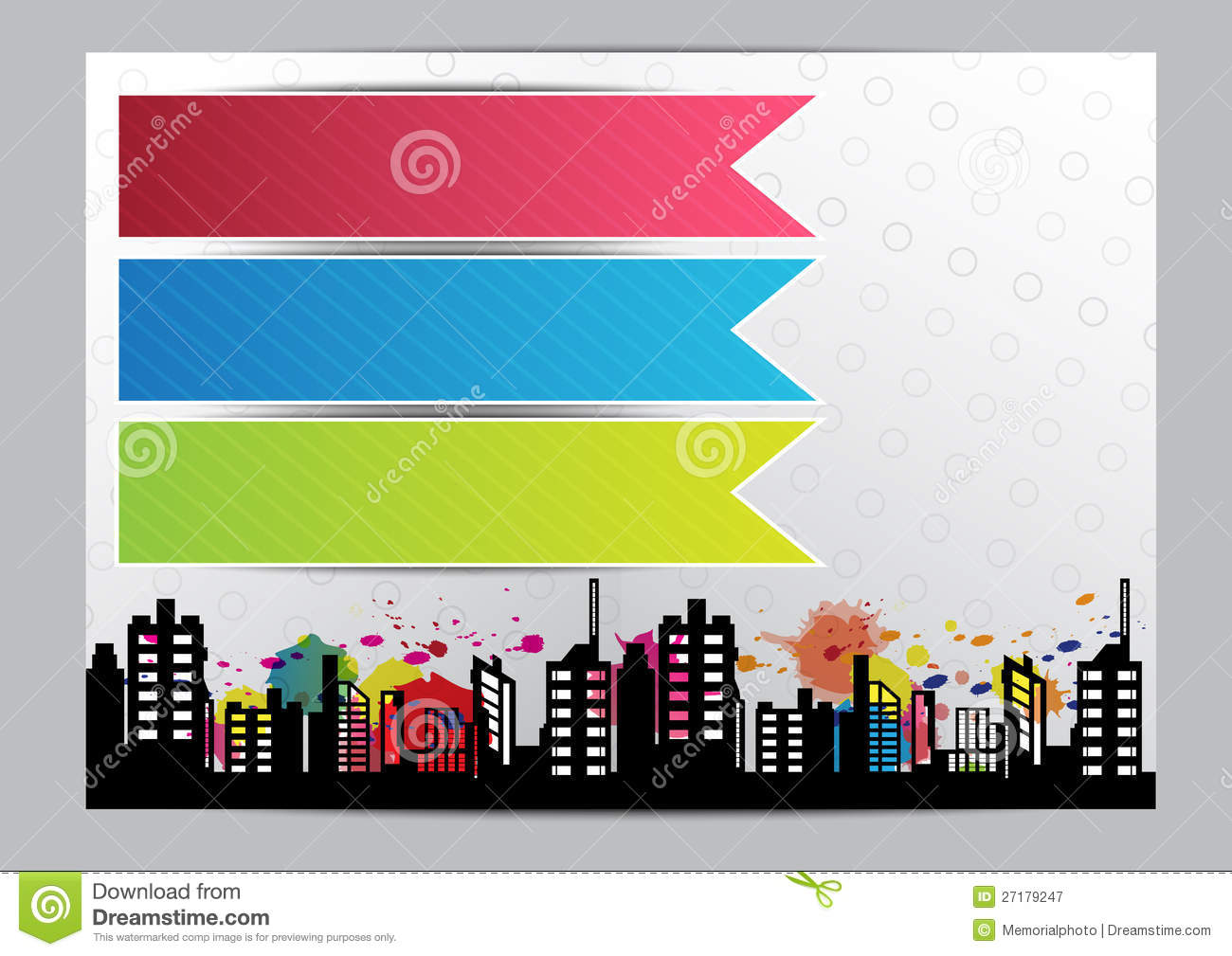 Advertise layout brochure design stock vector image Blueprint designer free