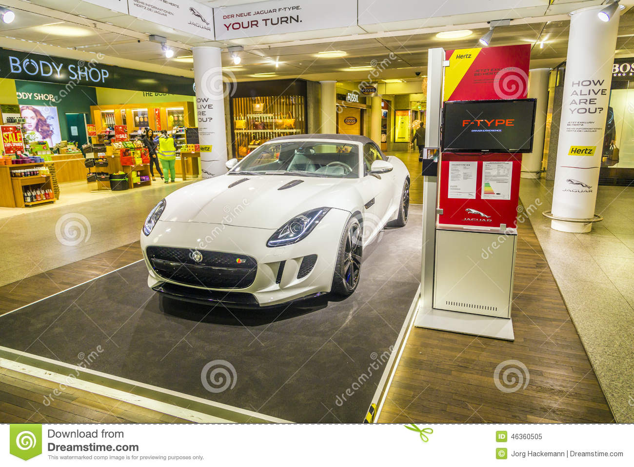 Download Advertising From A Car Rental Company For A Jaguar F Type Ca  Editorial Image