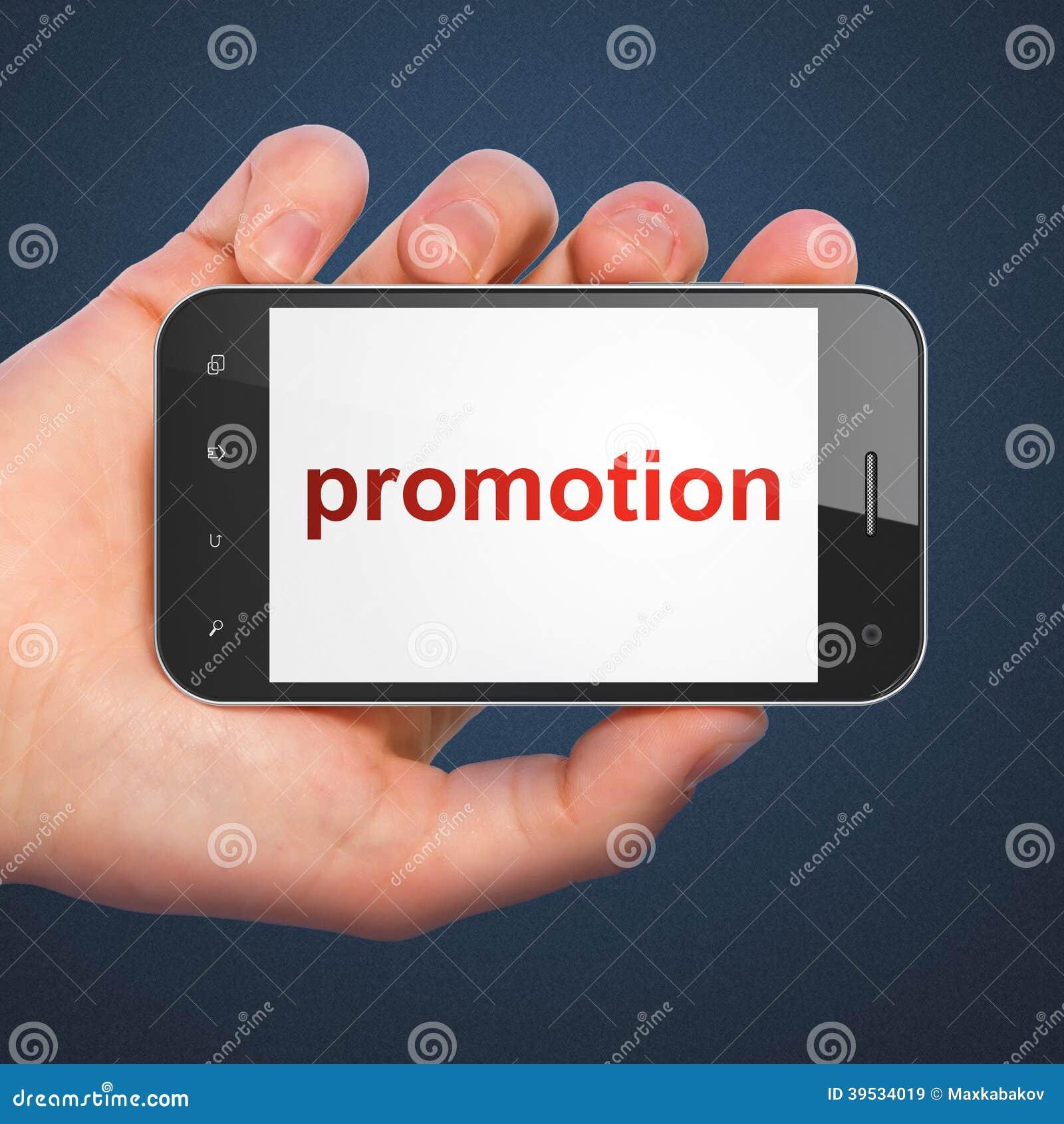 advertising concept promotion on smartphone stock photo image 39534019. Black Bedroom Furniture Sets. Home Design Ideas