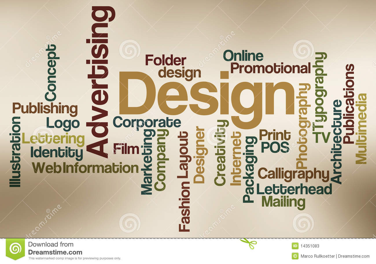 Advertising And Design - Word Cloud Stock Photos - Image: 14351083