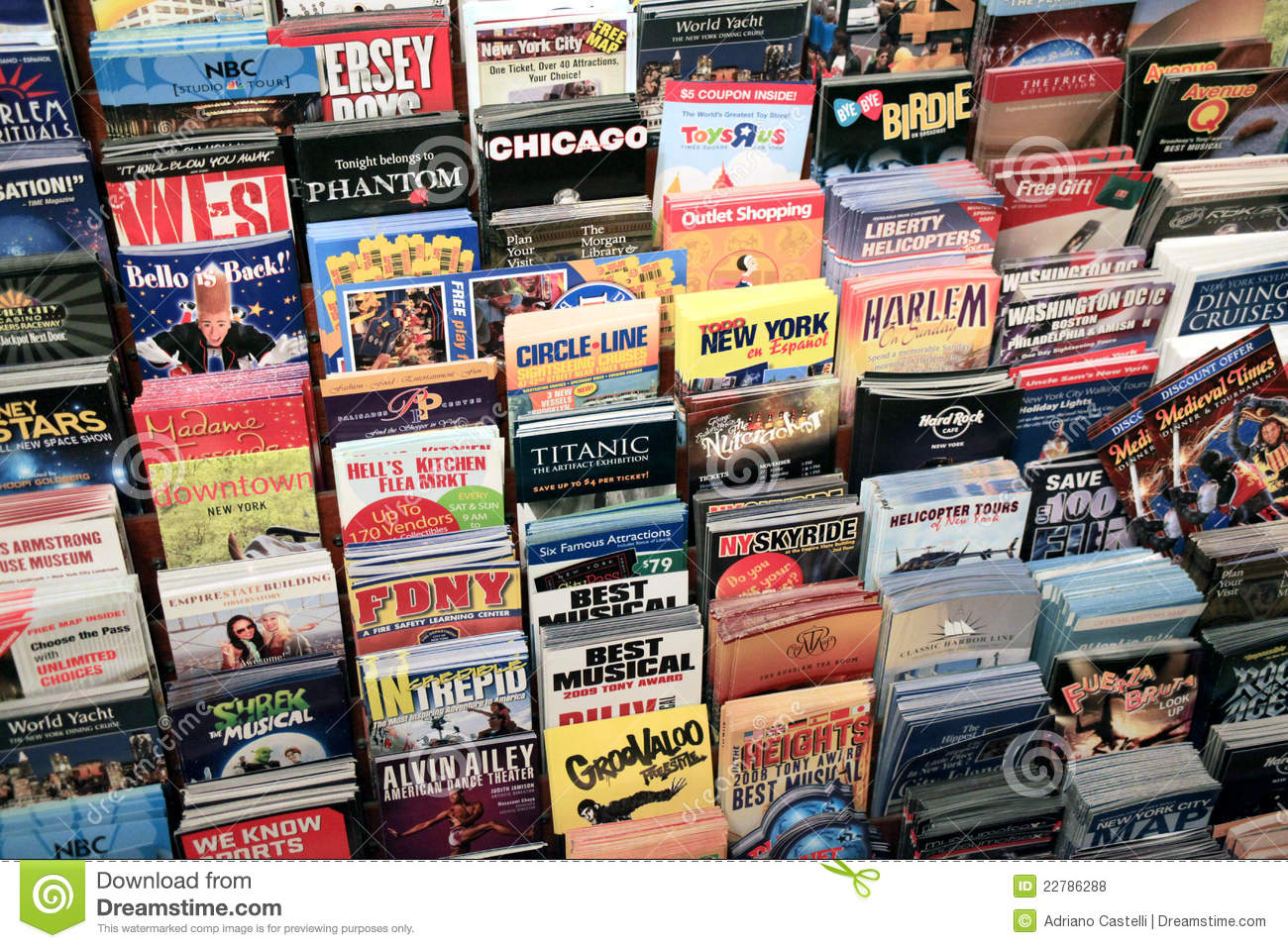 Advertising Flyers In New York Editorial Stock Photo - Image: 22786288