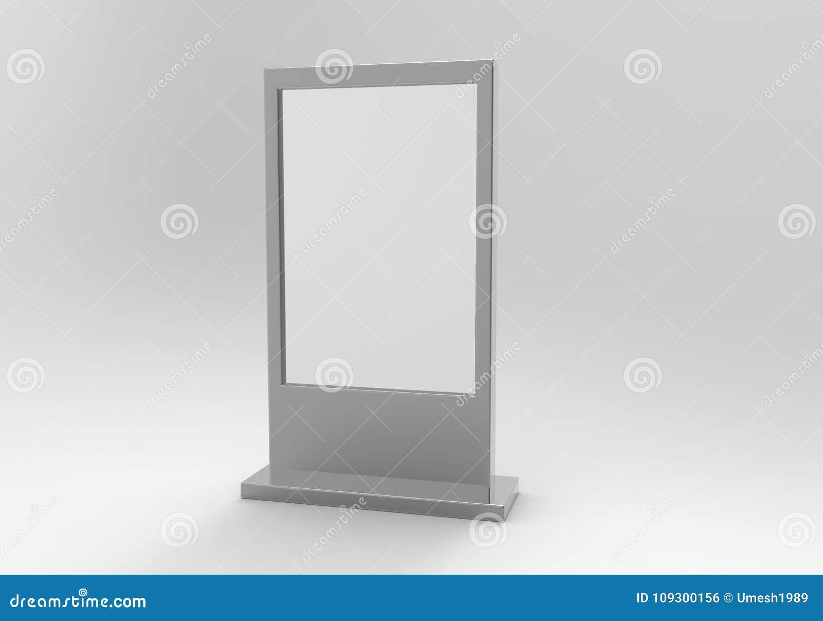 Advertising Light Box Reinforced Frame Less Lighted Sign Box. 3d ...