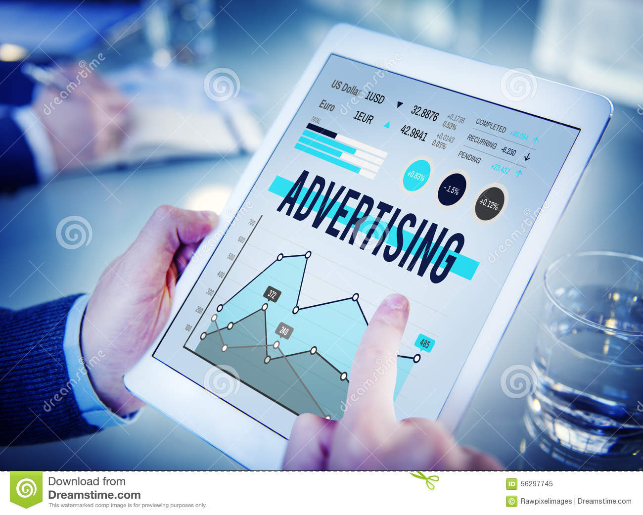 Advertising Marketing Business Promotion Concept Stock