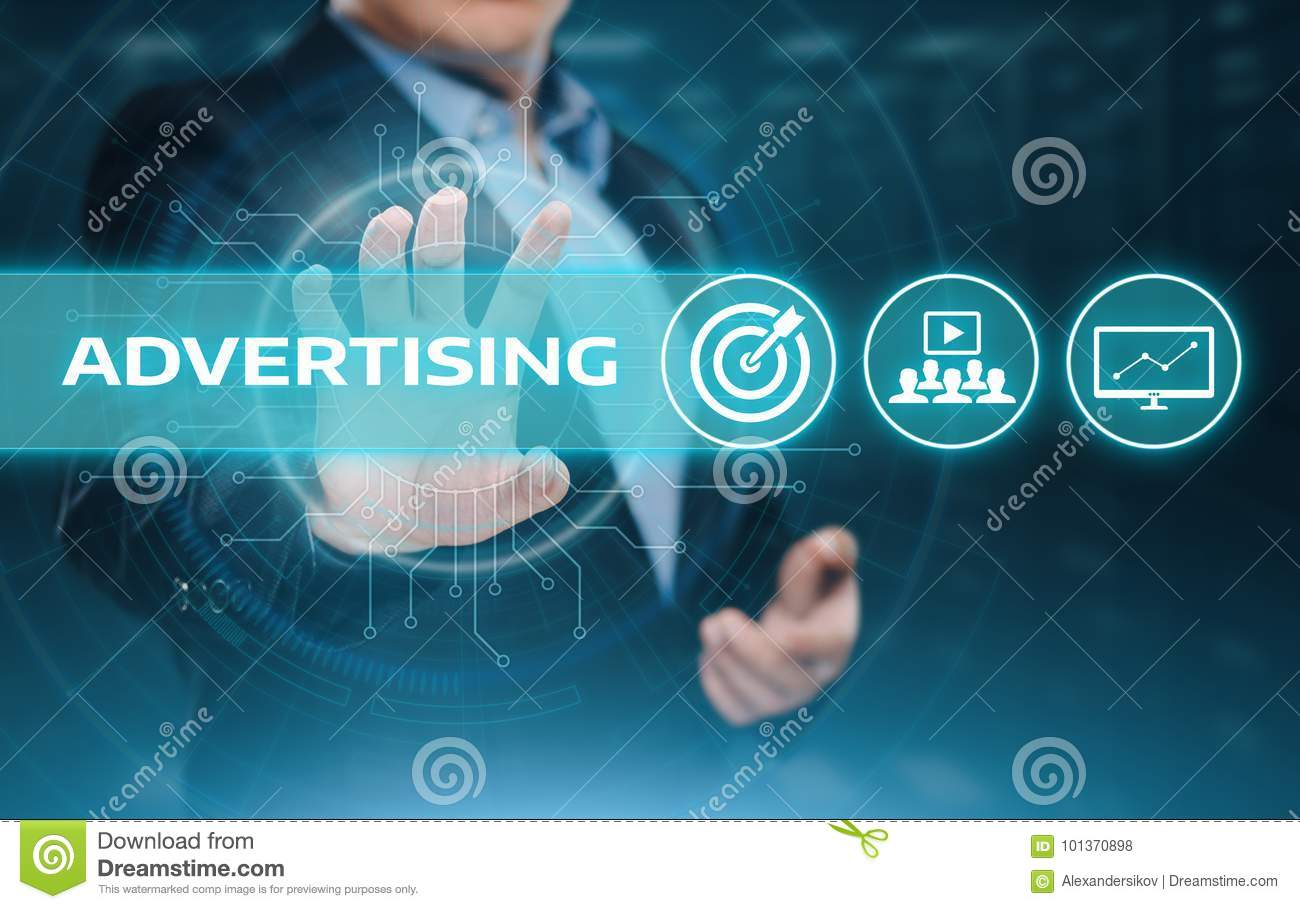 Advertising Marketing Plan Branding Business Technology concept
