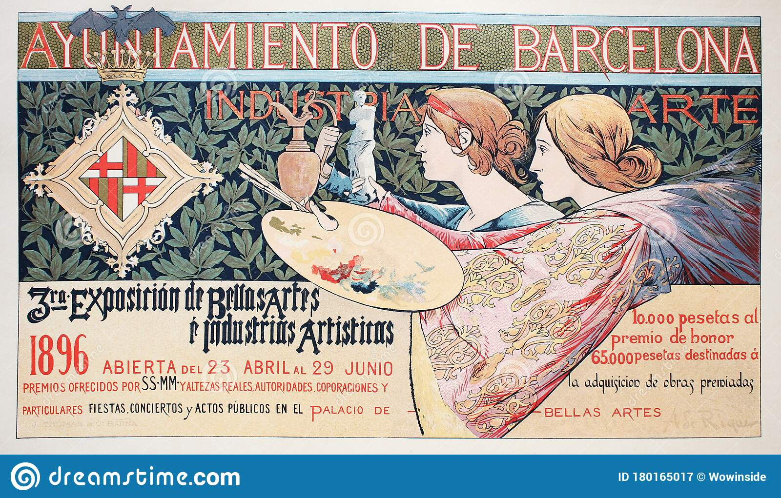 The Advertising Poster Of Exhibition Of Arts In The Vintage Book Les Maitres De L Affiche By Roger Marx 1897 Editorial Photography Image Of Cute Book 180165017