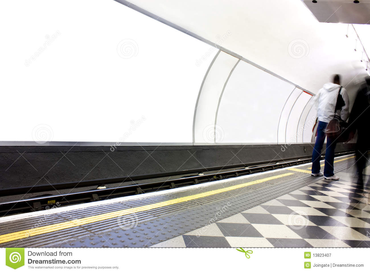 Advertising Poster Site In London Underground Royalty Free ...