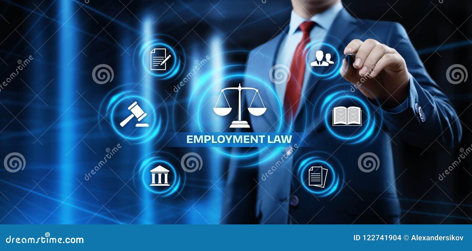 Advogado Business Concept das regras legais dos direitos laborais