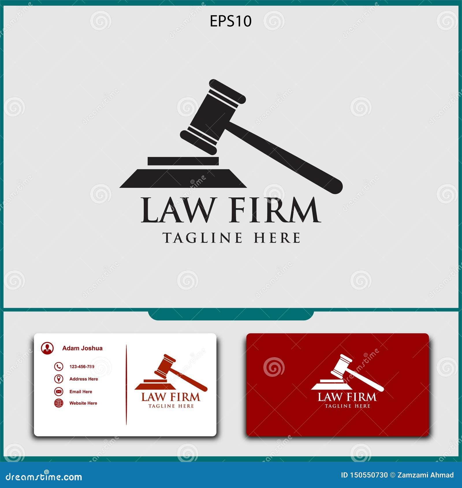 Adwokata logo wektorowy projekt sprawiedliwość wektoru ilustracja