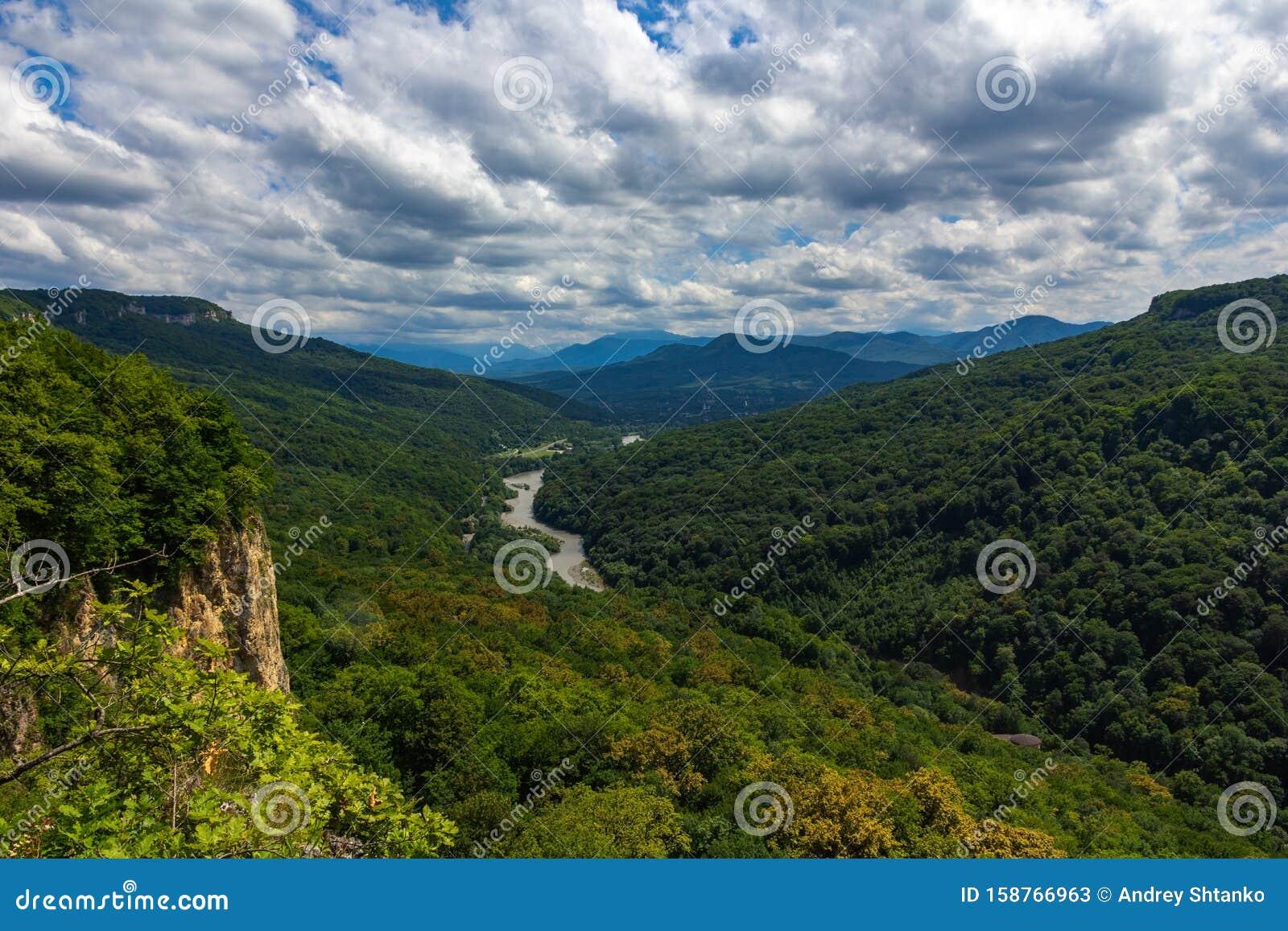Adygea Mountains stock image. Image of adygea, forest - 158766963