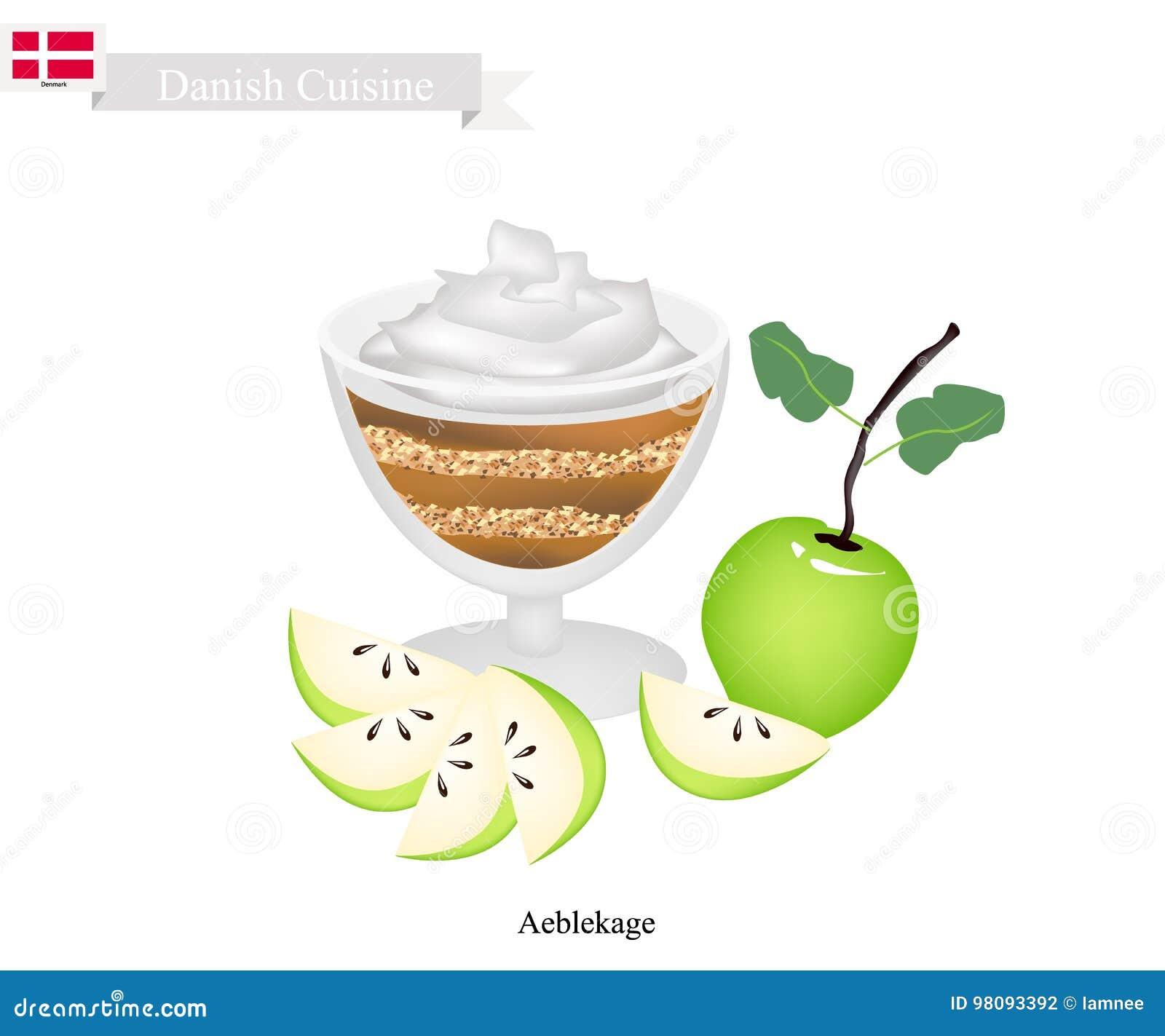 Aeblekage ou gâteau aux pommes, dessert populaire au Danemark