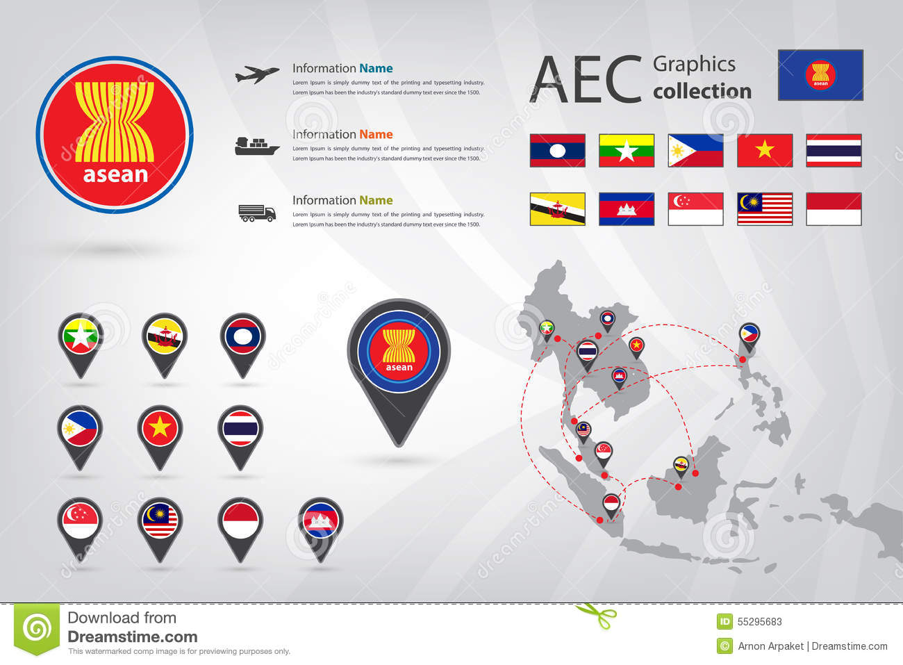 AEC Graphic collection stock image. Image of eps10 ...
