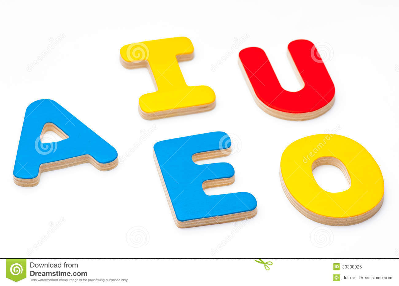 AEIOU, Five Letters Of The Alphabet Royalty Free Stock Image - Image ...