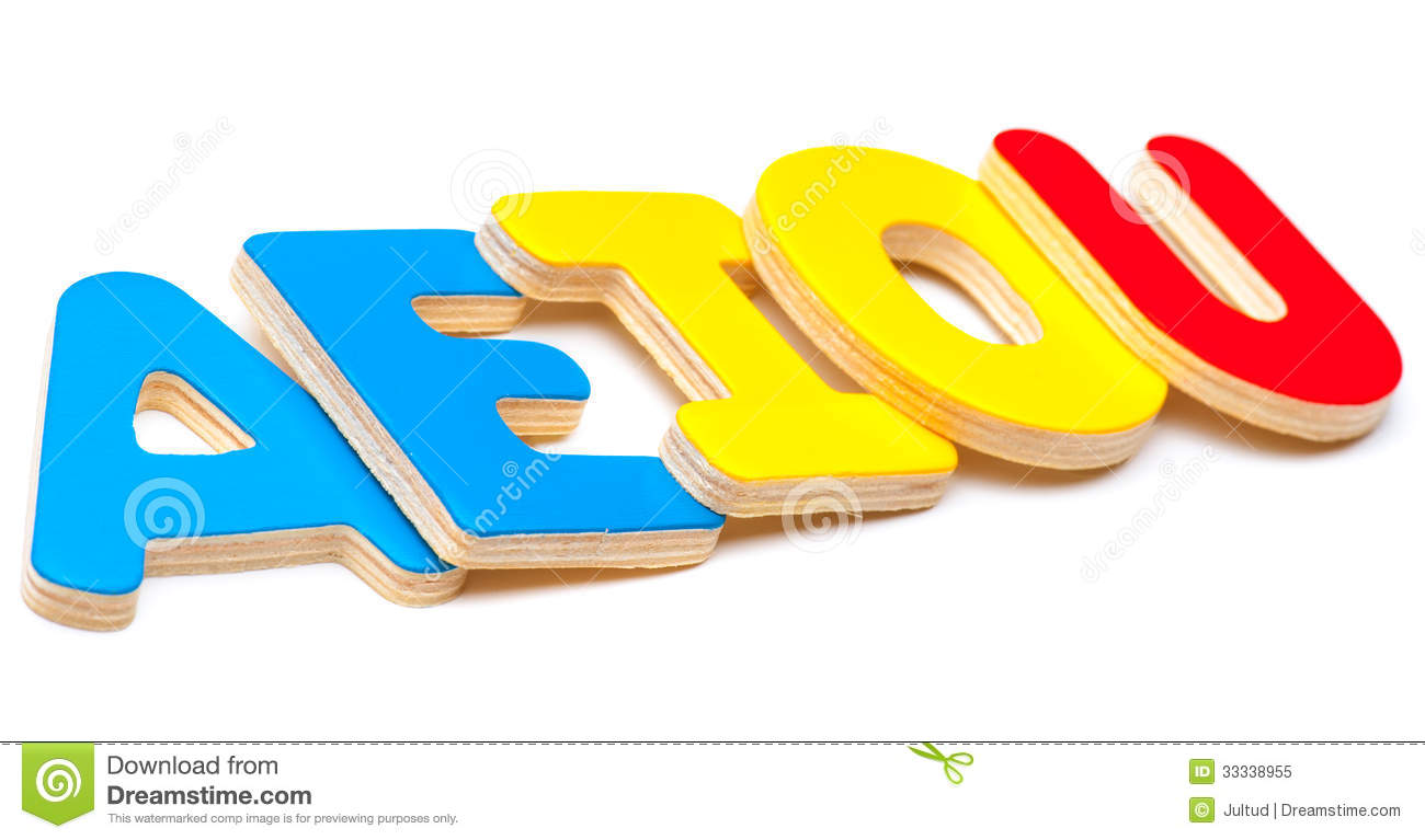 AEIOU, Five Letters Of The Alphabet Royalty Free Stock Photo ...