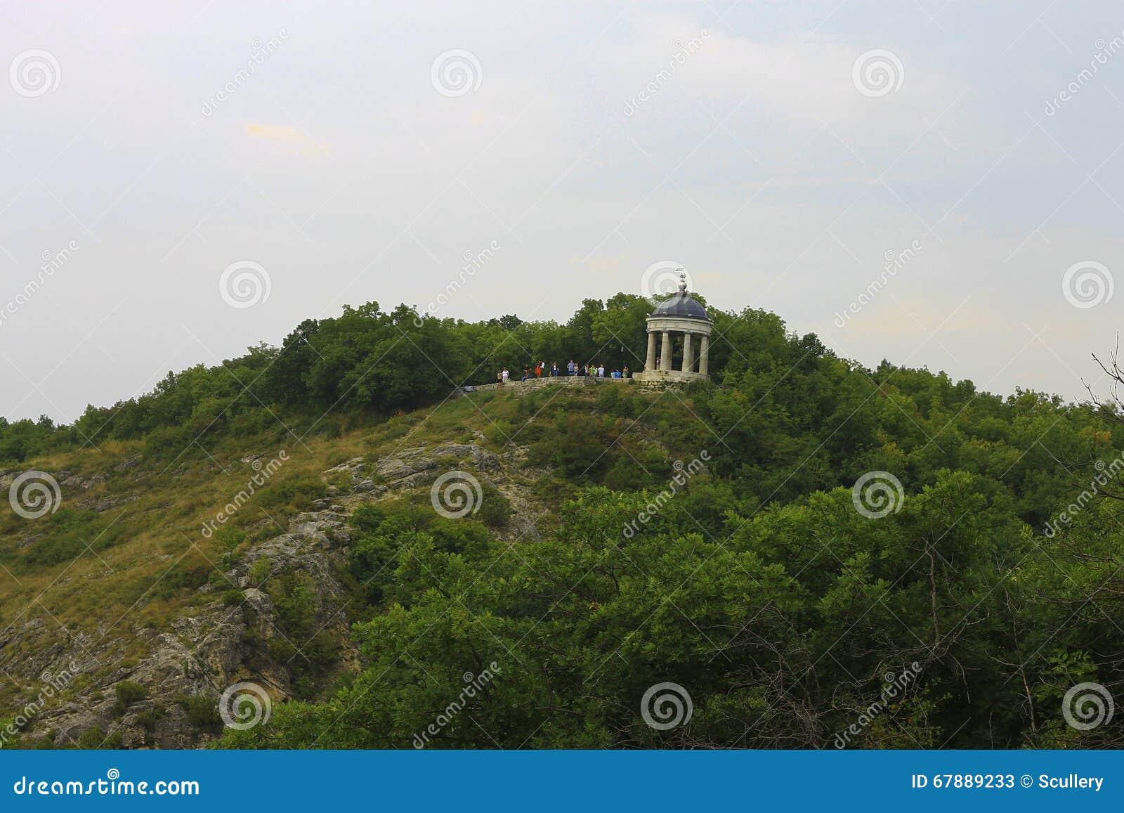 Aeolus竖琴夏令时 Pyatigorsk地标和纪念碑
