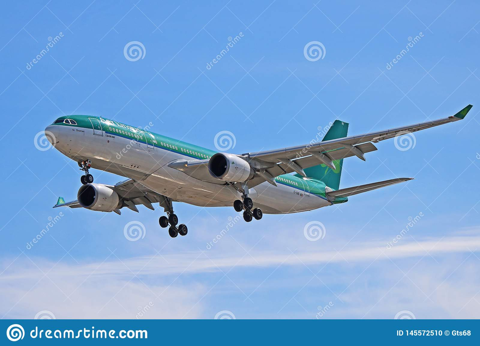 An Aer Lingus Airbus A330-200 On Final Approach