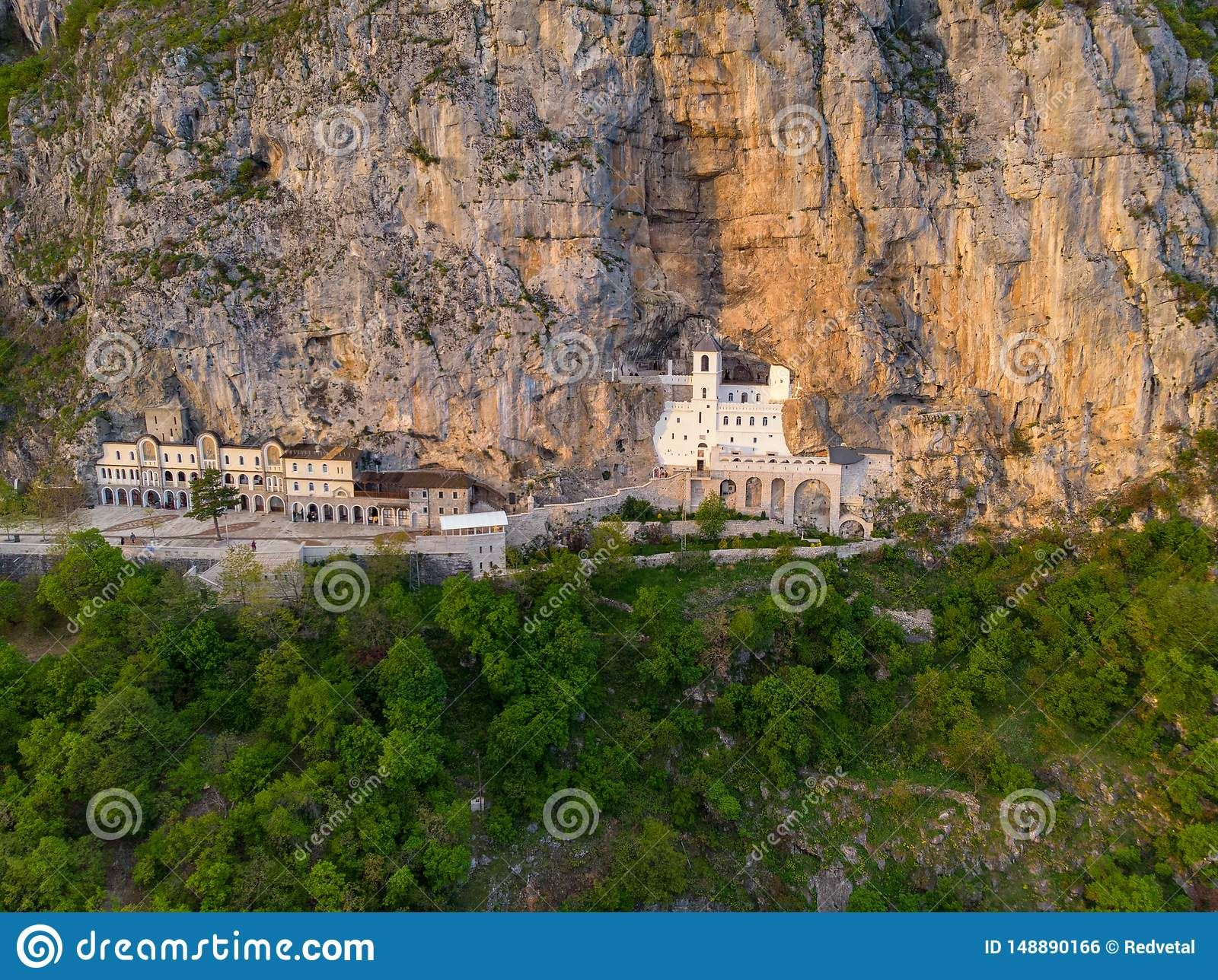 Monastery of Ostrog is a monastery of Serbian Orthodox Church placed against an almost vertical rock of Ostroska Greda, Montenegro
