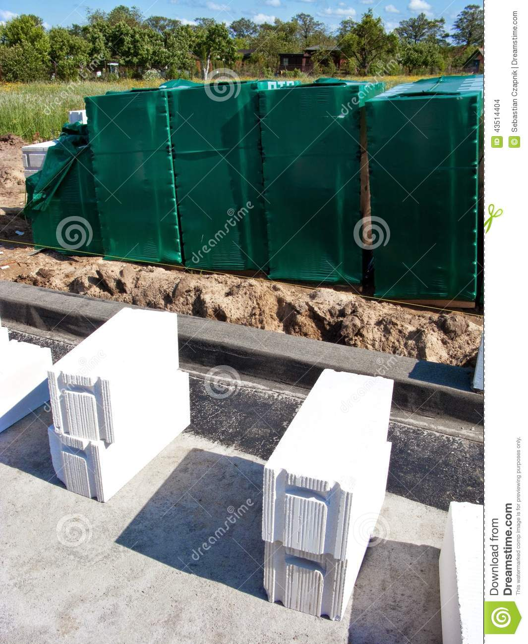Aerated concrete blocks stock photo image 43514404 for Home building resources