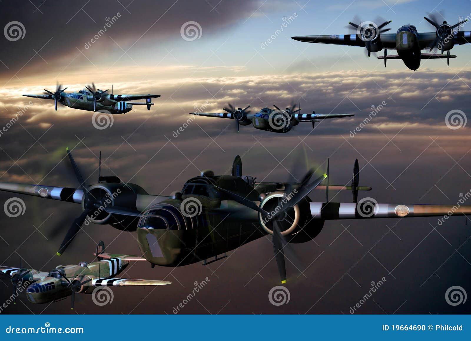 Aerei della seconda guerra mondiale illustrazione di stock for Decorati 2 guerra mondiale
