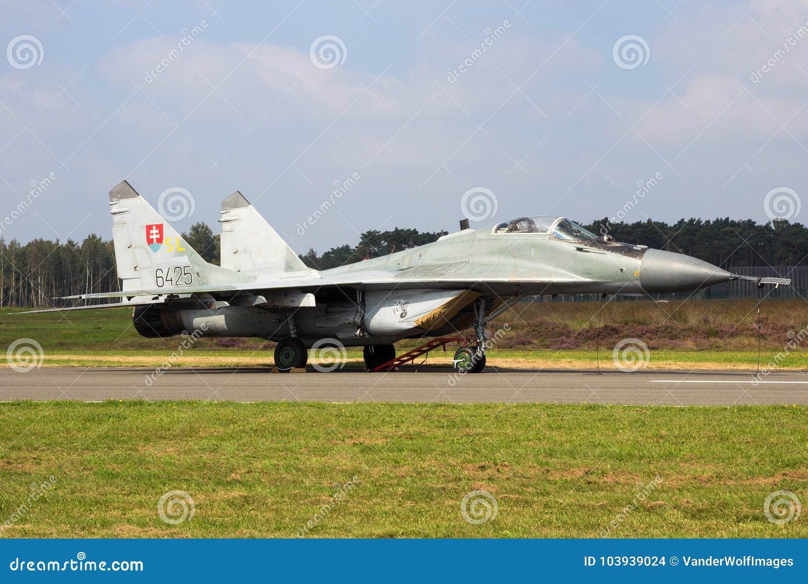 Aerei di aereo da caccia del fulcro della Slovacchia MiG-29