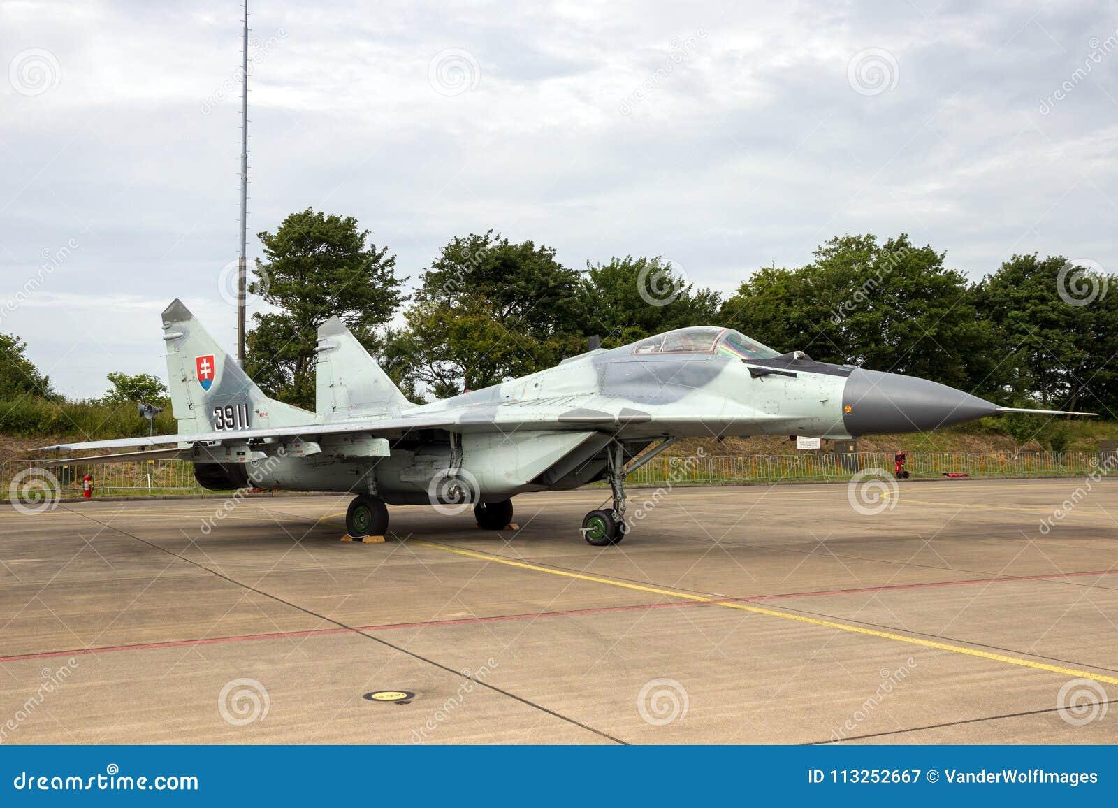 Aerei di aereo da caccia slovacchi del fulcro dell aeronautica MiG-29
