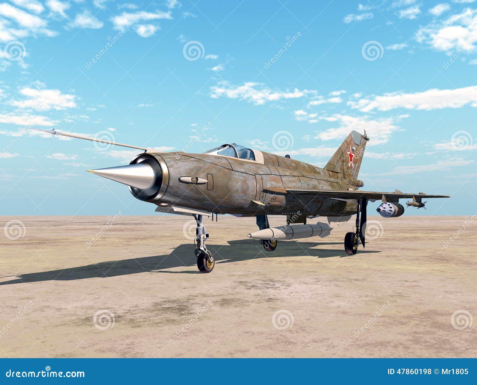 Aerei Da Caccia Turboelica : Aerei di aereo da caccia sovietici illustrazione stock