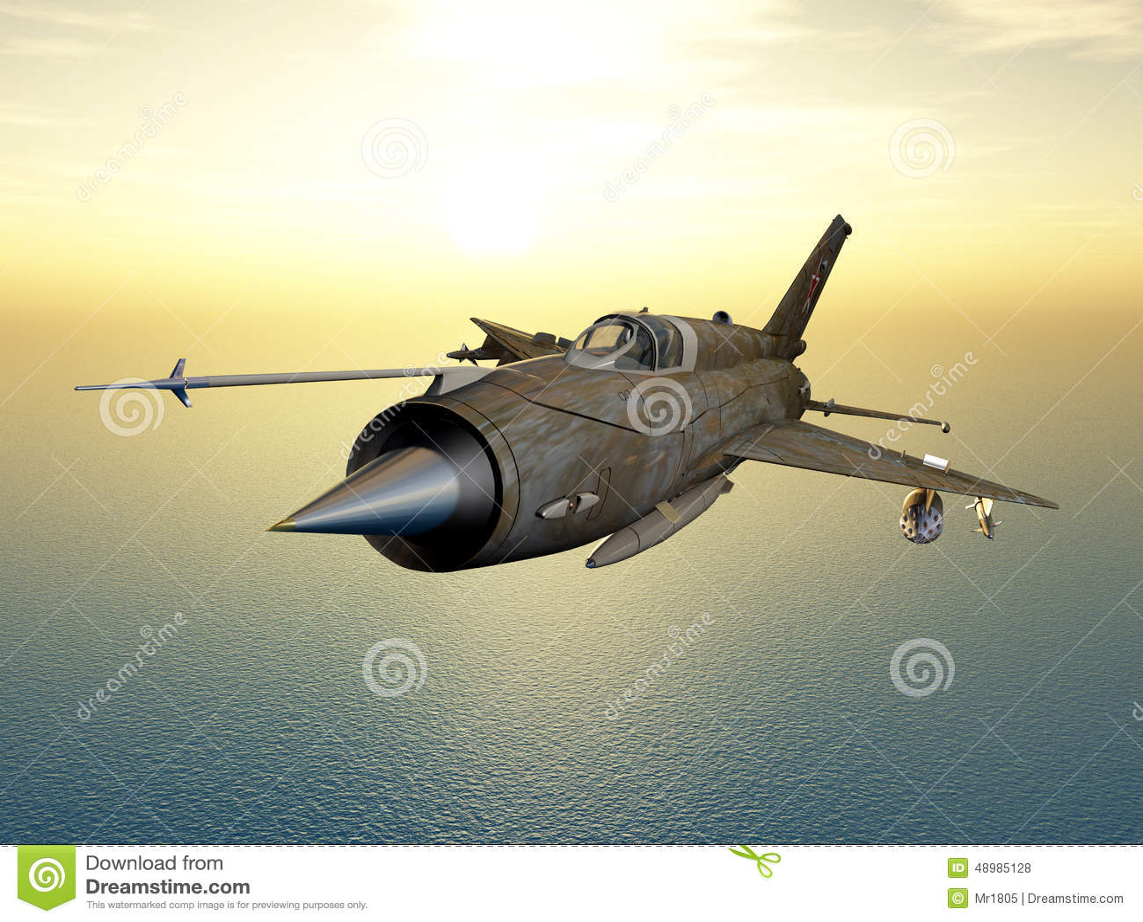 Aereo Da Combattimento Cinese : Aerei di aereo da caccia sovietici illustrazione stock