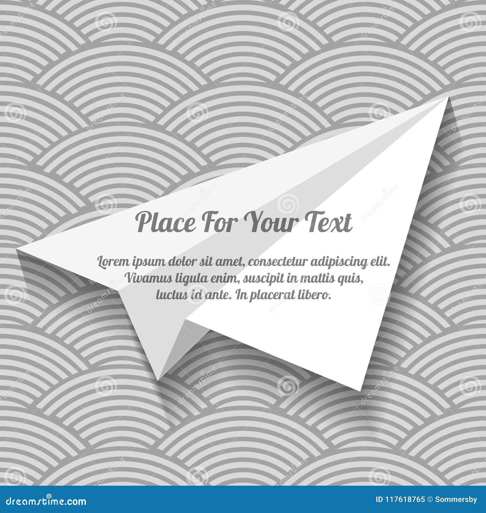 Aereo del Libro Bianco con spazio per lo slogan pubblicitario su senza  cuciture 49d6cd64d50