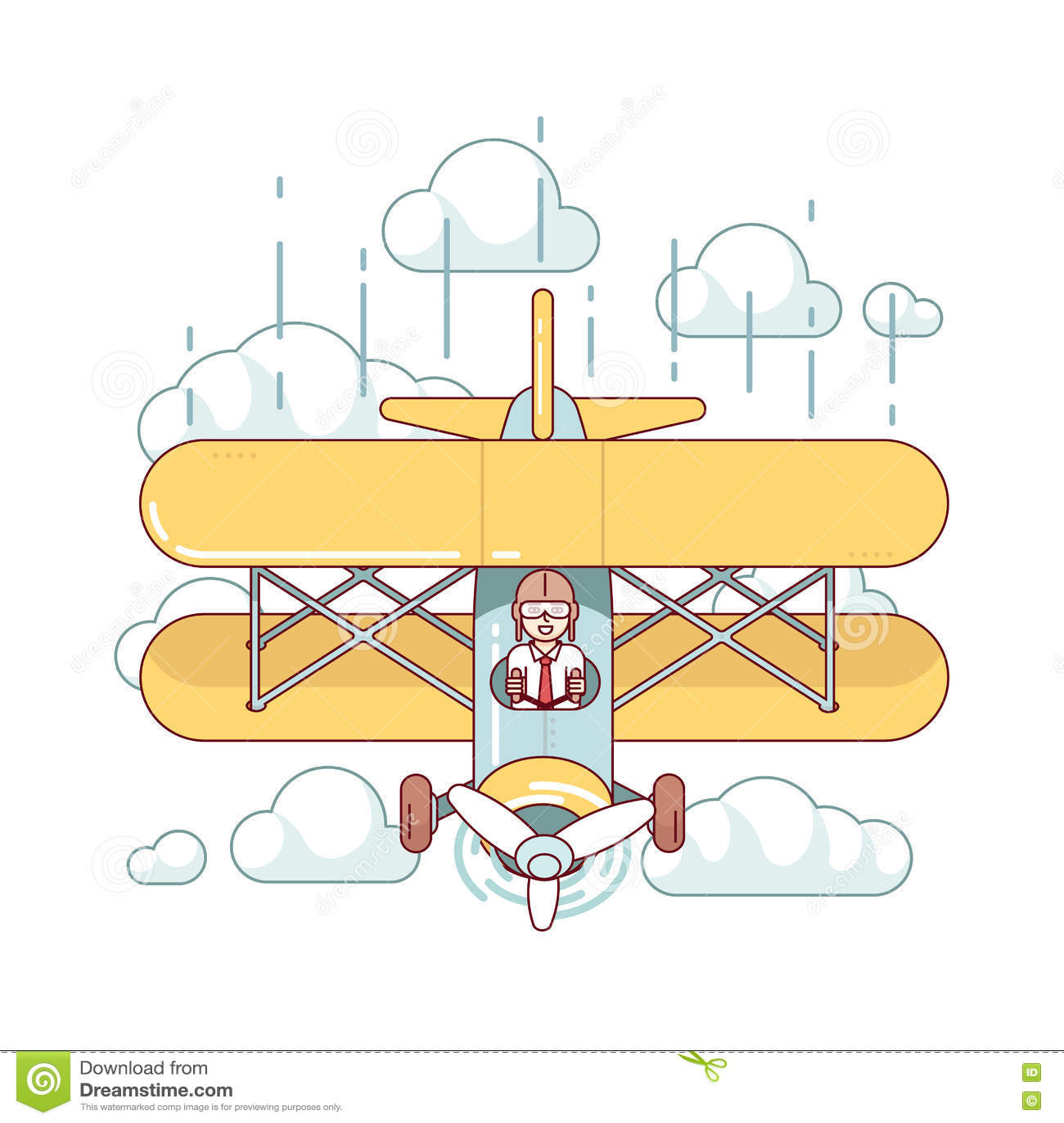 Aereo di aria pilota dell 39 autobus a due piani di volo dell for Piani di caverna dell uomo