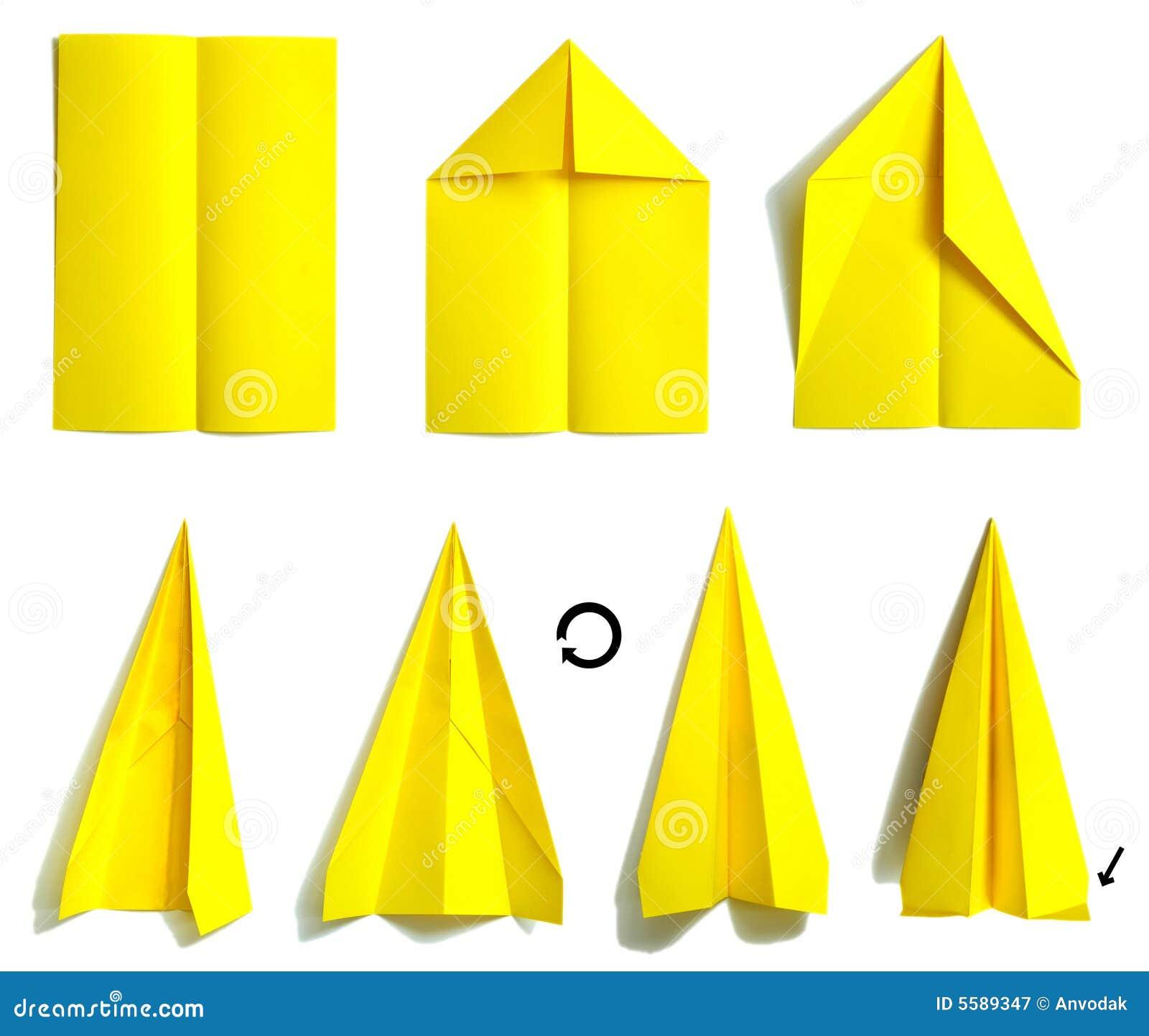 Как сделать из бумаги простой самолетик