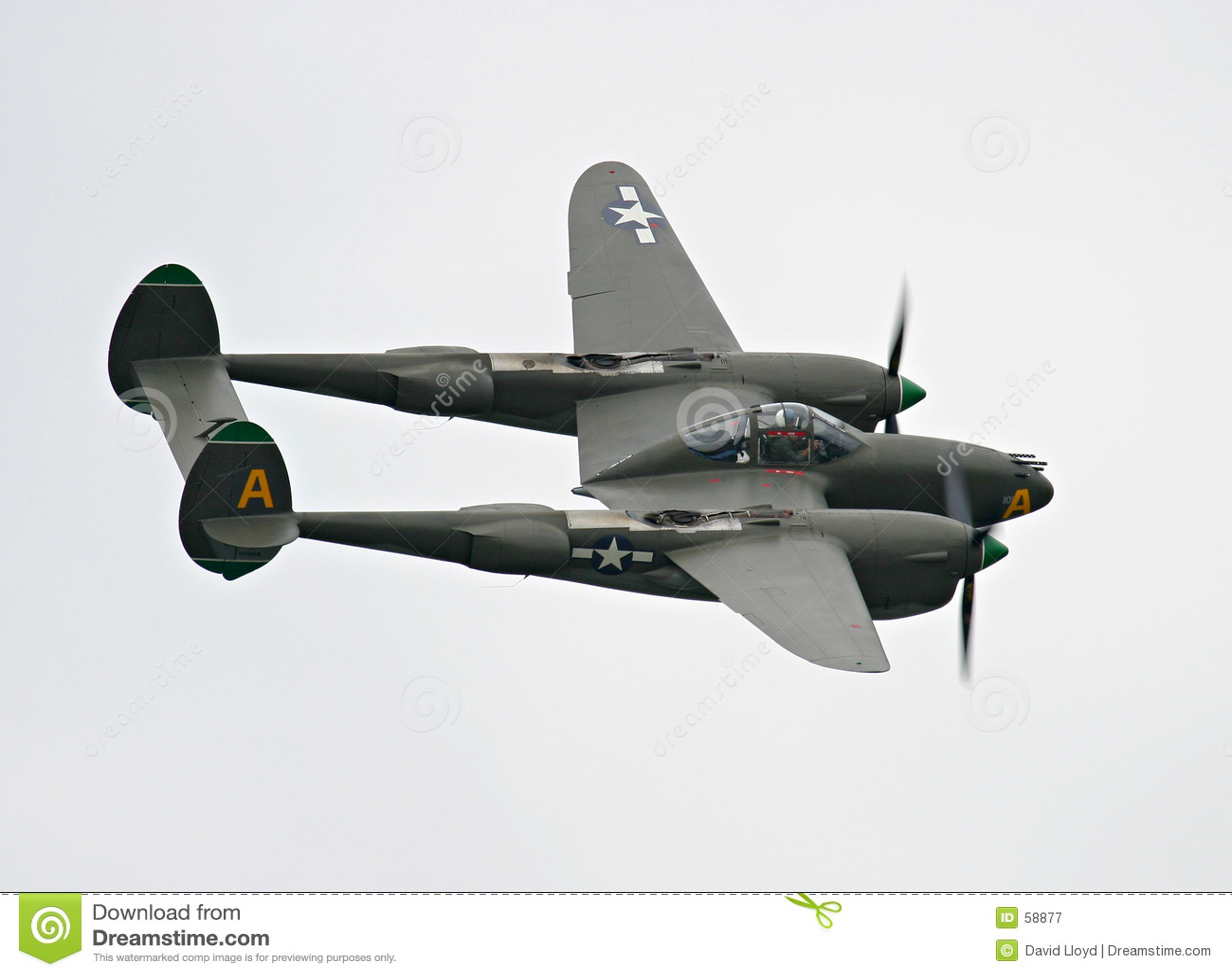 Aereo di combattimento del lampo P-38