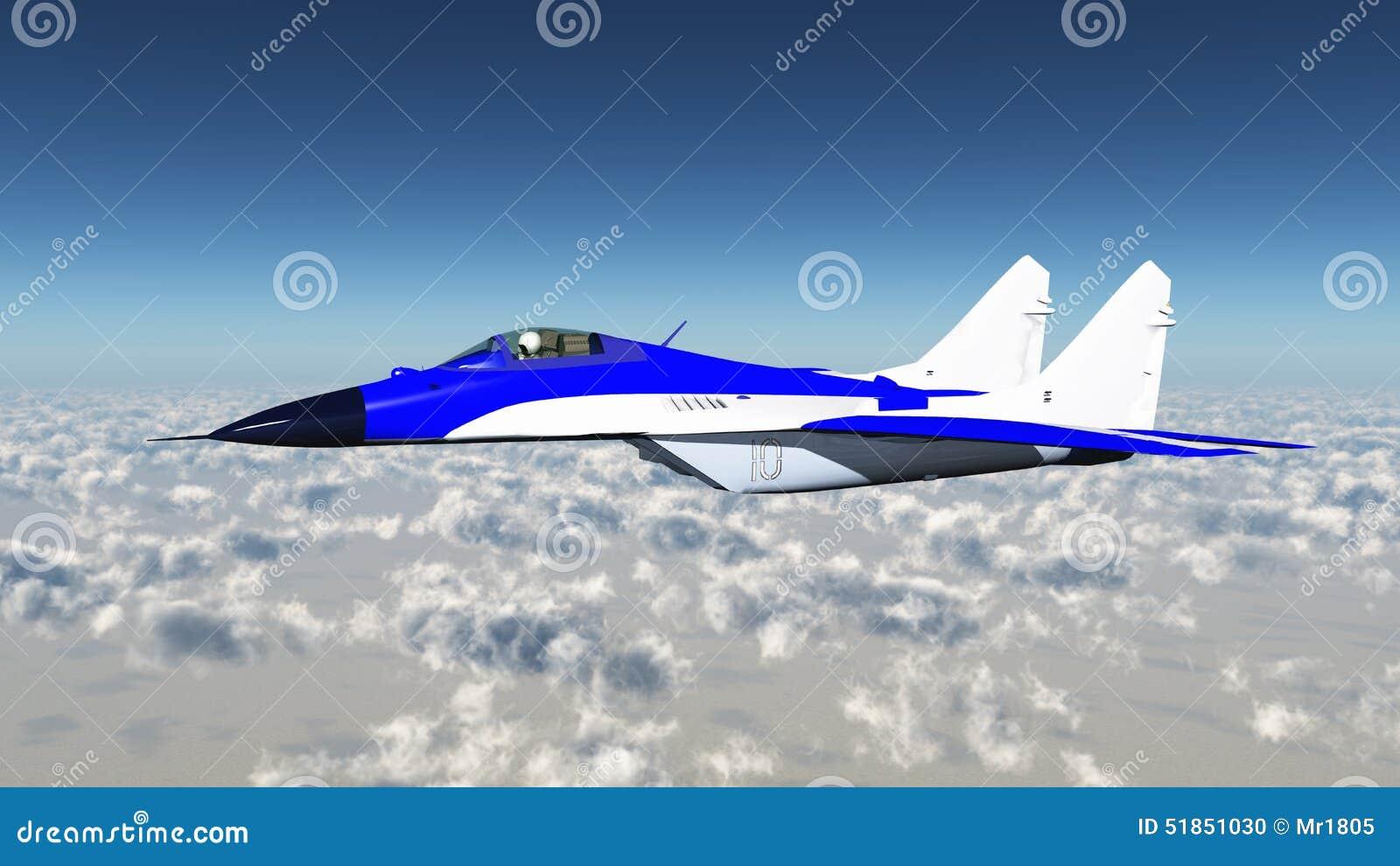 Aereo Da Combattimento Russo : Aereo di combattimento russo illustrazione stock
