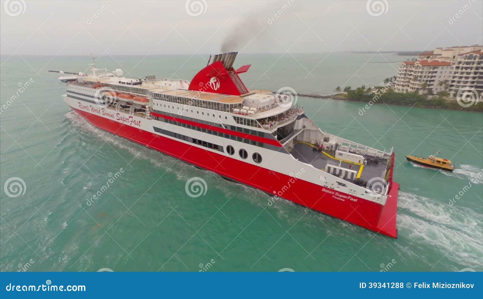 Aerial Bimini Super Fast Cruise Ship Stock Footage Video Of - Bimini superfast cruise ship