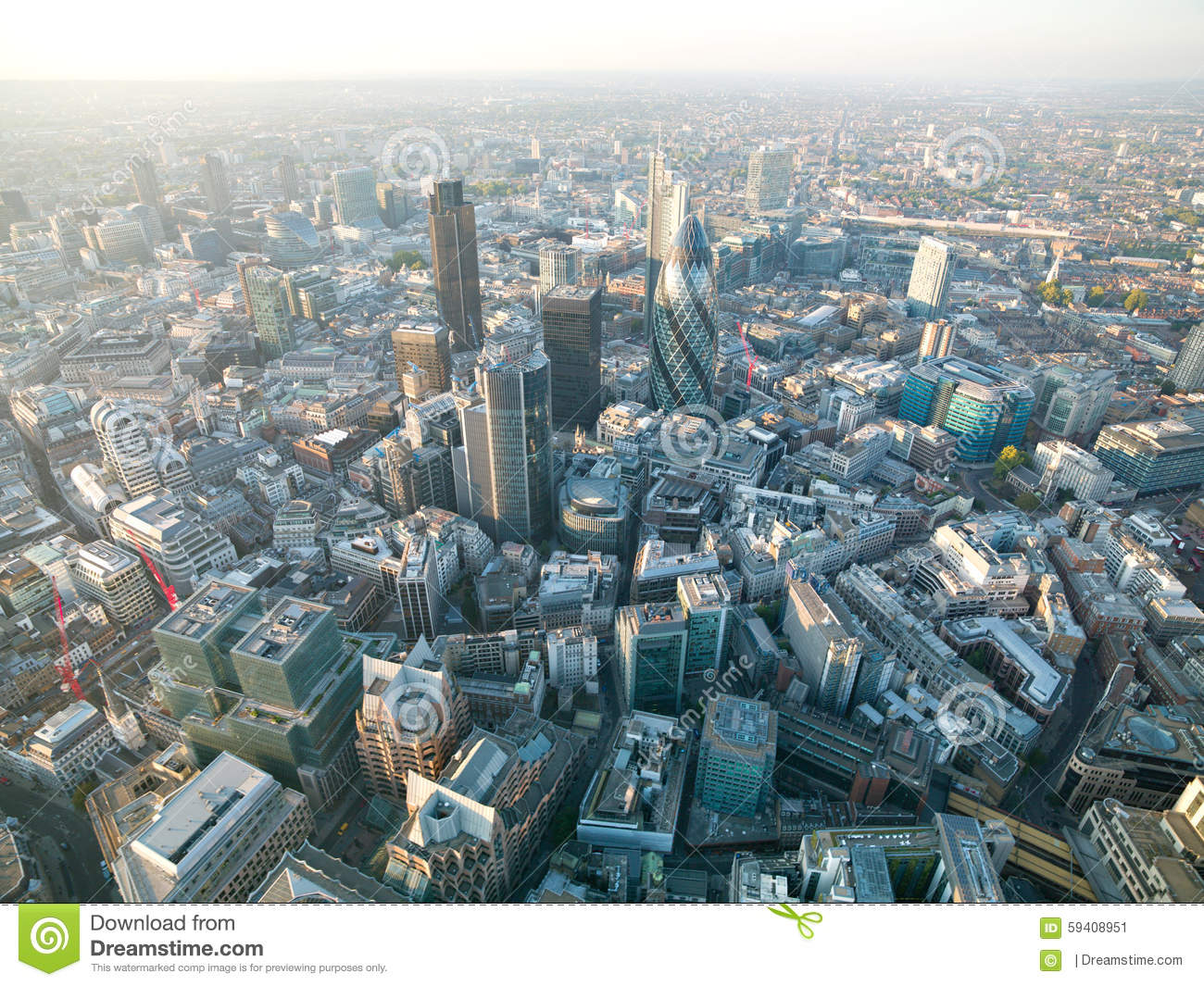 Aerial British Cities Stock Image Image Of View Image