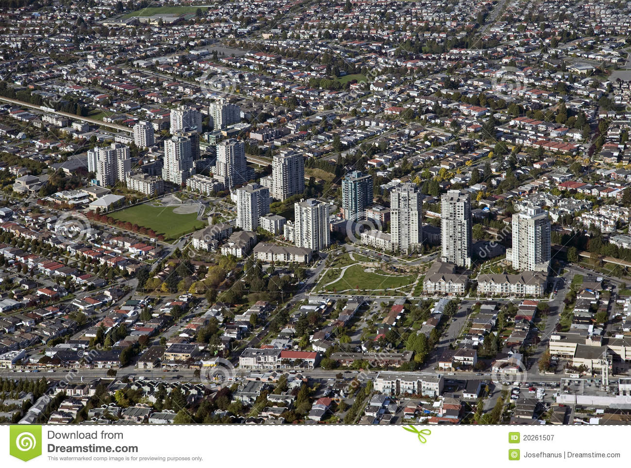 Burnaby (BC) Canada  city pictures gallery : Aerial Burnaby, BC, Canada Royalty Free Stock Photography Image ...