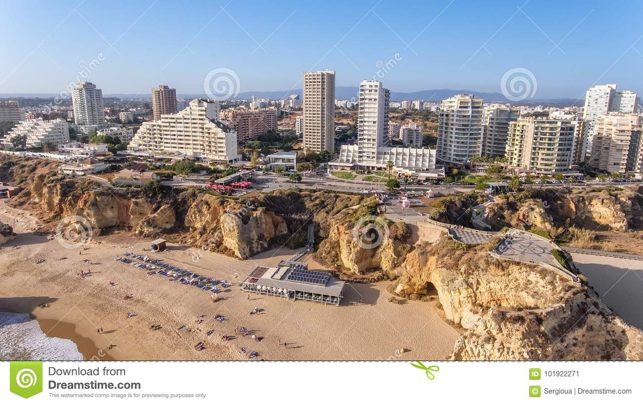 Download Aerial. The City Of Portimao Shot By Drones, View From Sky. Stock Image - Image of contemporary, investment: 101922271
