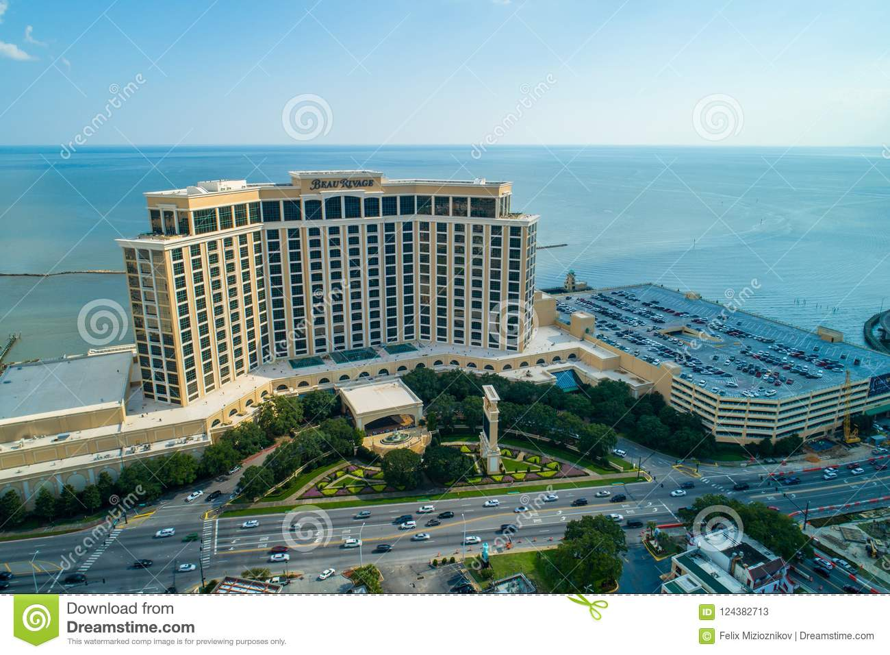 Aerial Image Of Beau Rivage Biloxi Mississippi Editorial Stock
