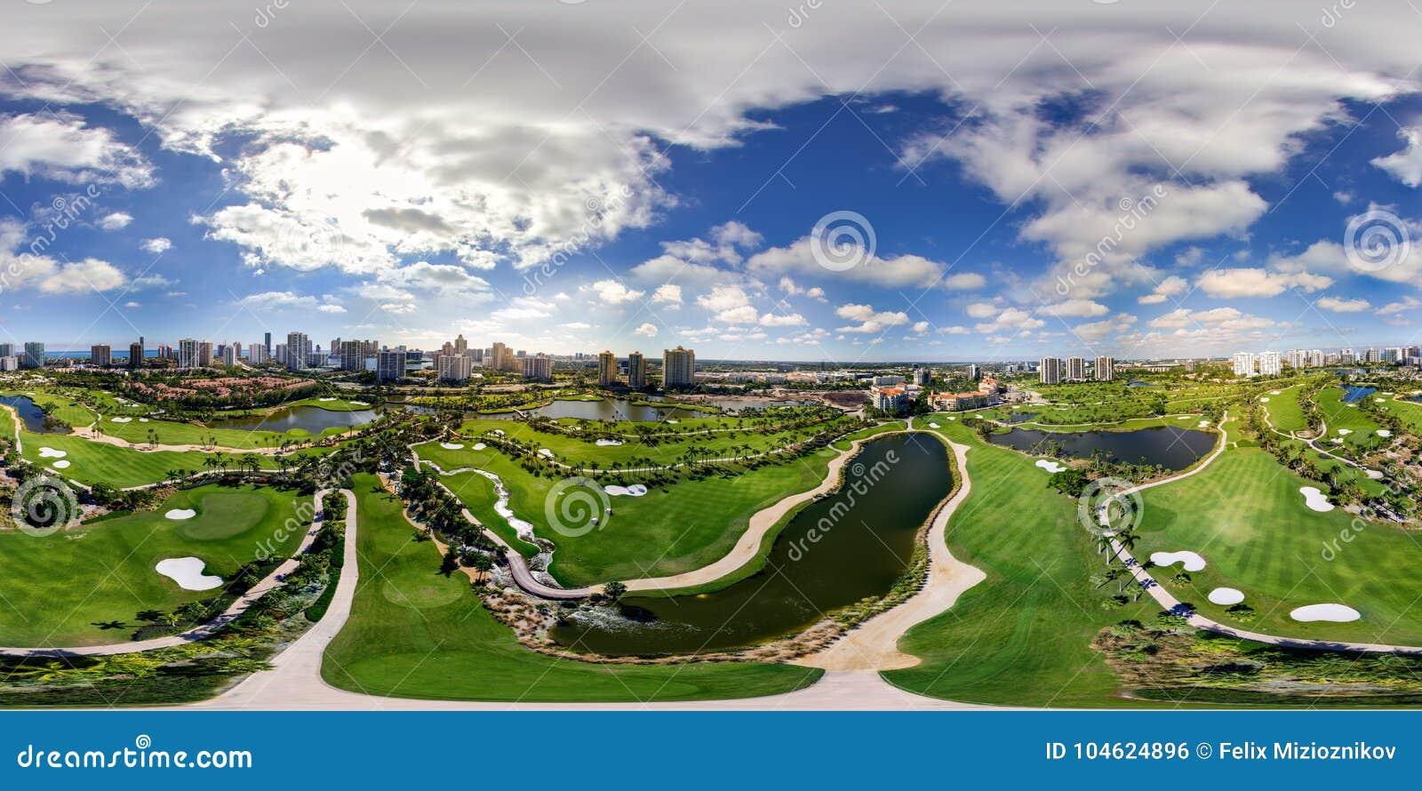 Aerial Drone Image Spherical Equirectangular Panorama