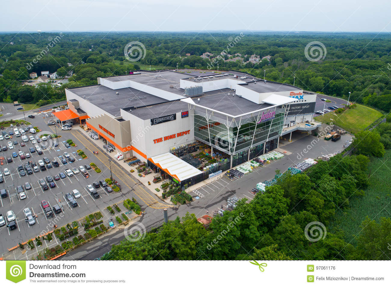 Aerial Image Of Jordans Home Depot Shopping Center Reading