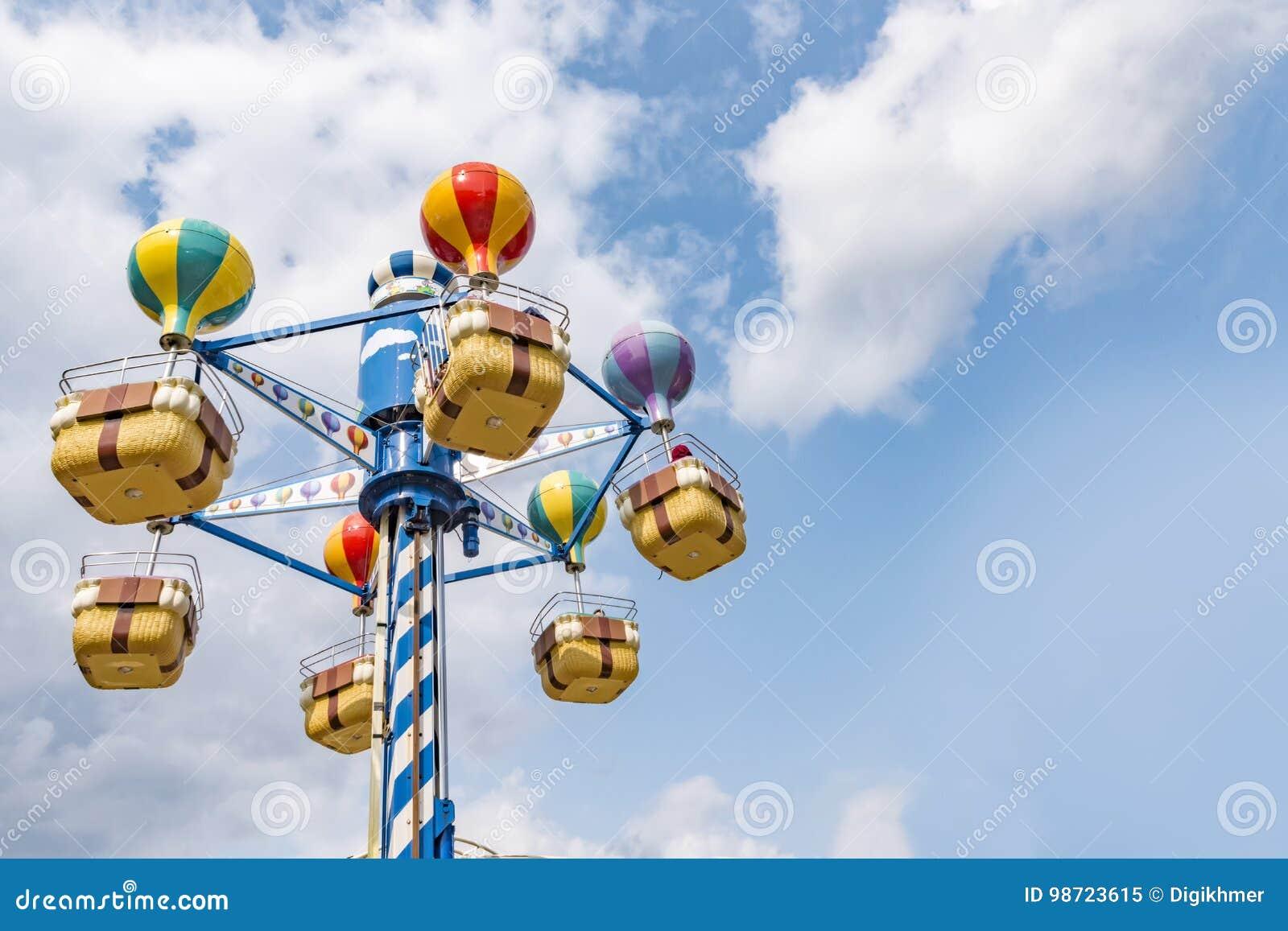 Aerial merry go round carousel