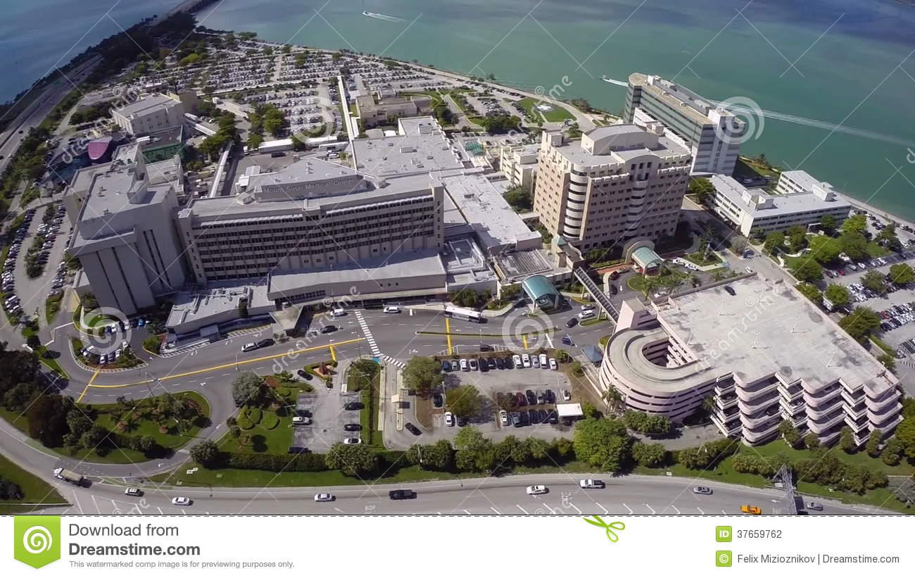 Aerial Mount Sinai Medical Center Stock Footage - Video of