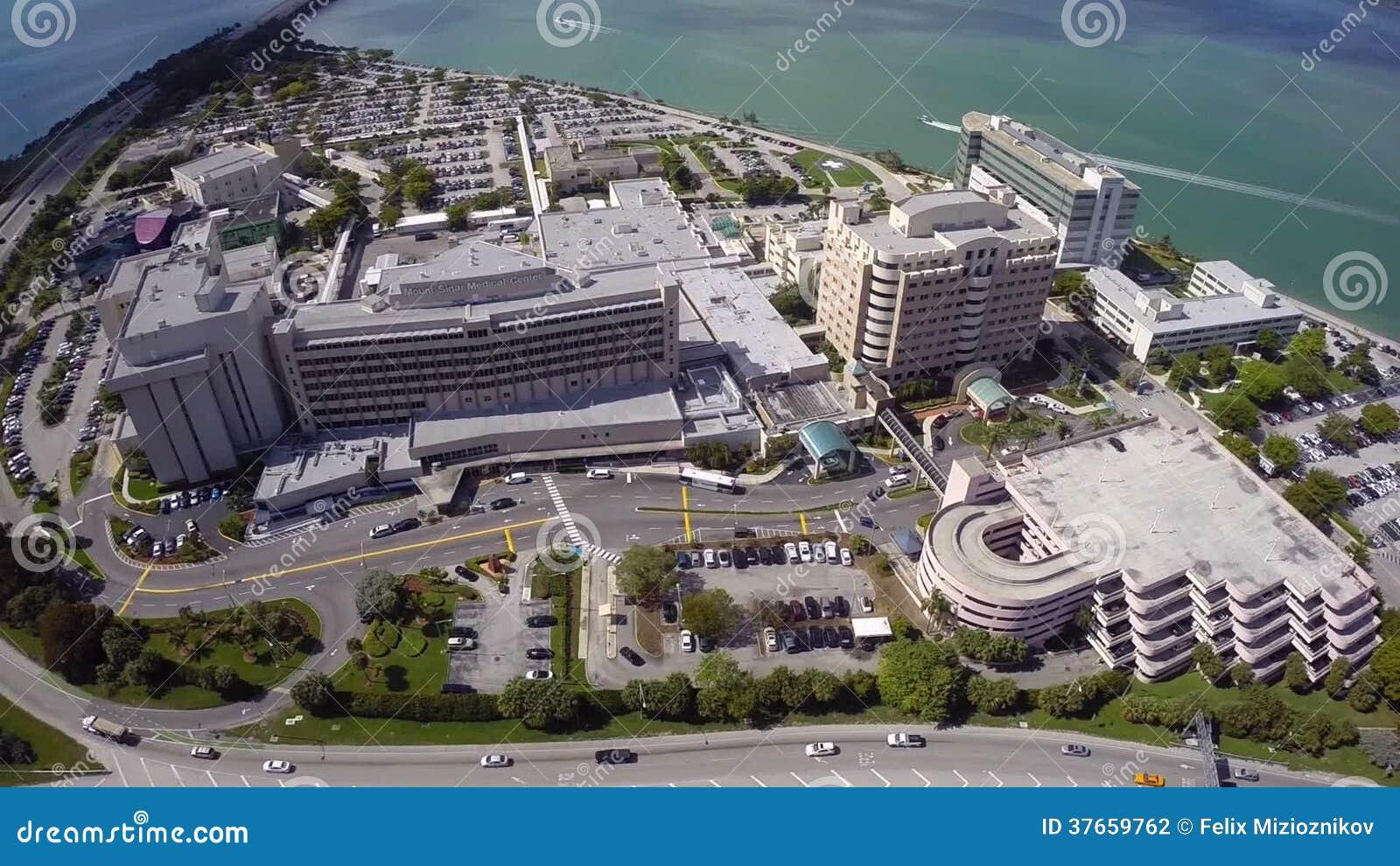 Aerial Mount Sinai Medical Center Stock Footage - Video of hero