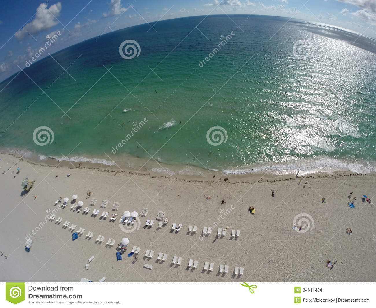Aerial over the beach