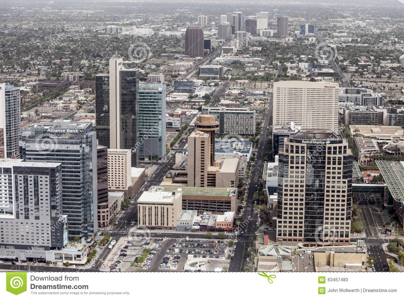 Aerial Of Phoenix Arizona Editorial Stock Photo Image Of